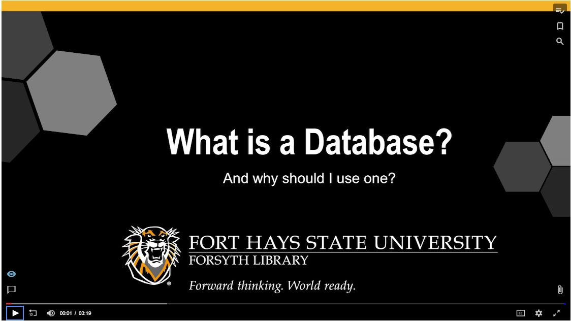 What is a Database Tutorial