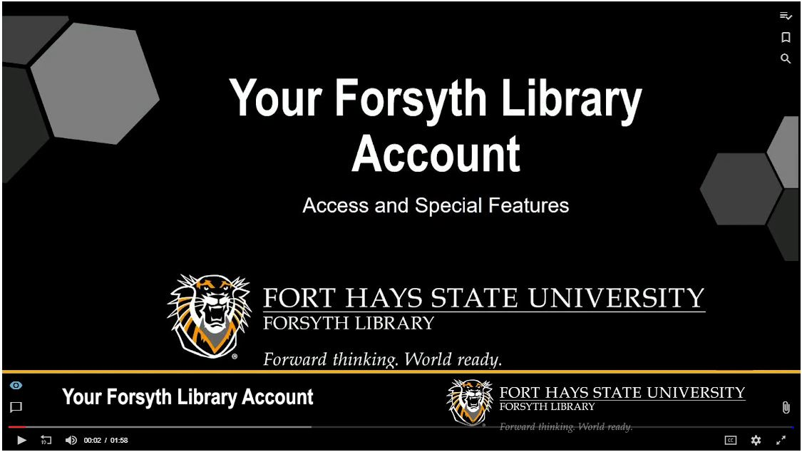 Your Forsyth Library Account Tutorial