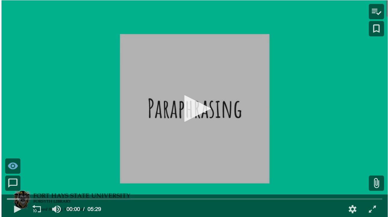 bilingual tutorial video about paraphrasing