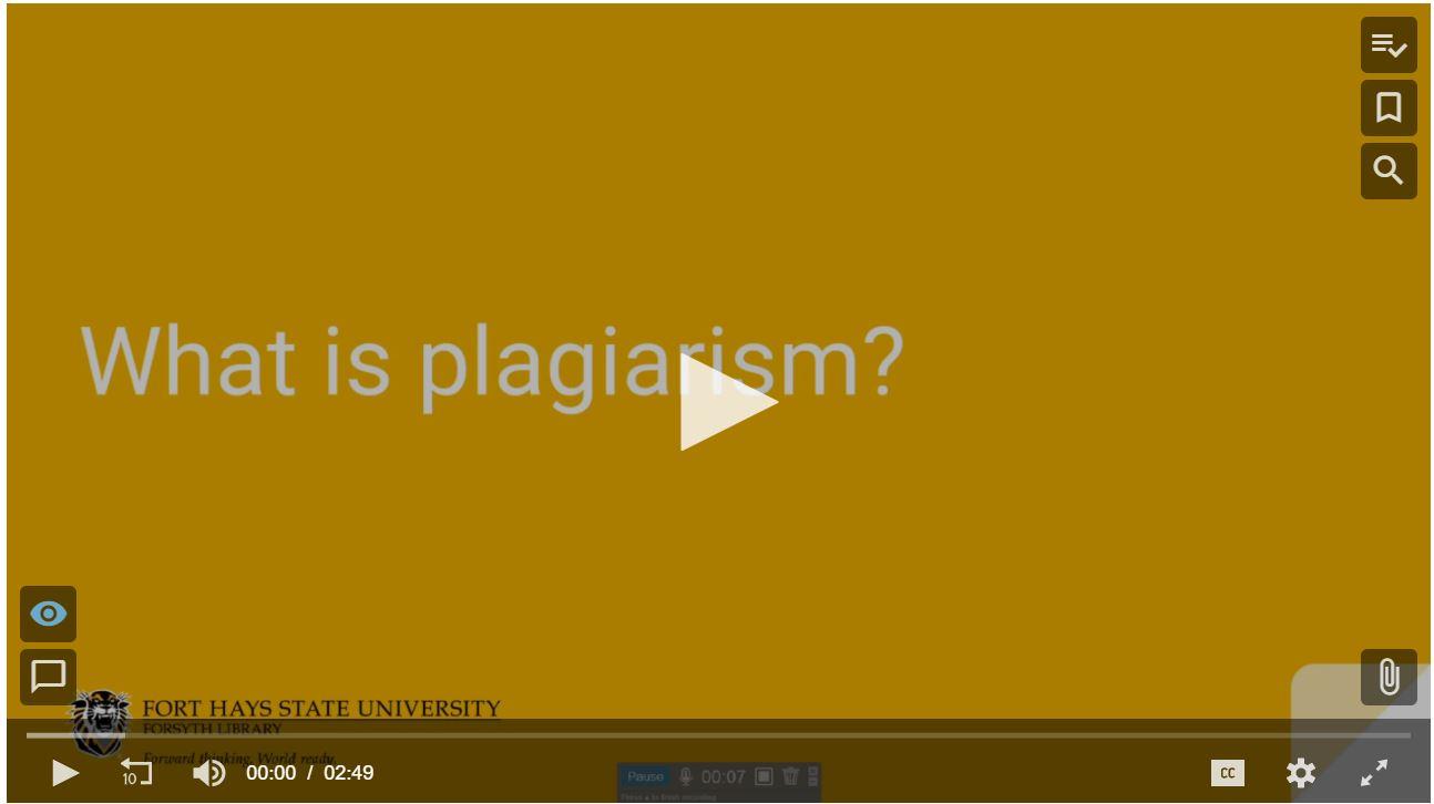 bilingual tutorial video about plagiarism