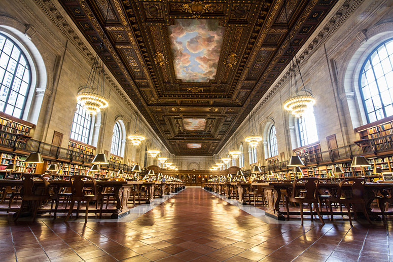 Interior color photo of Rose Main Reading Room