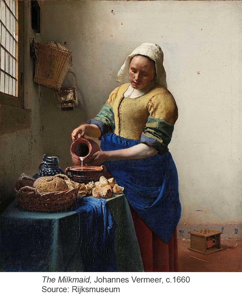 Milkmaid, Vermeer