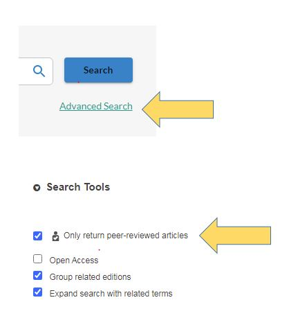 Search peer reviewed articles