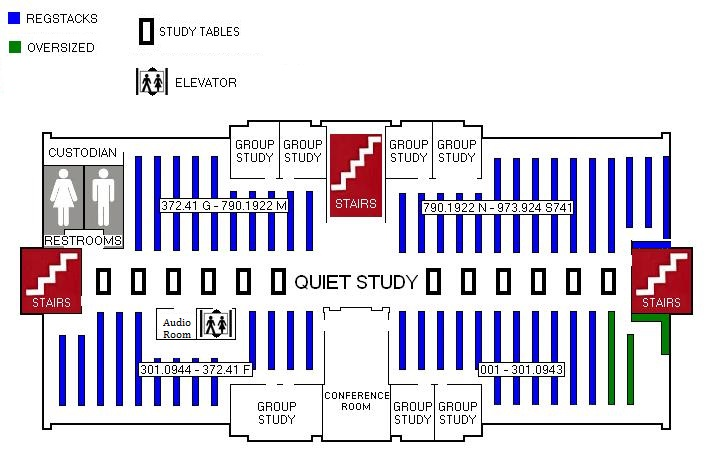 Map of Library Top Floor