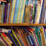 Shelved children's books