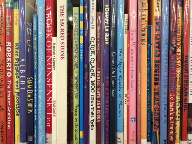 sheld of children's books