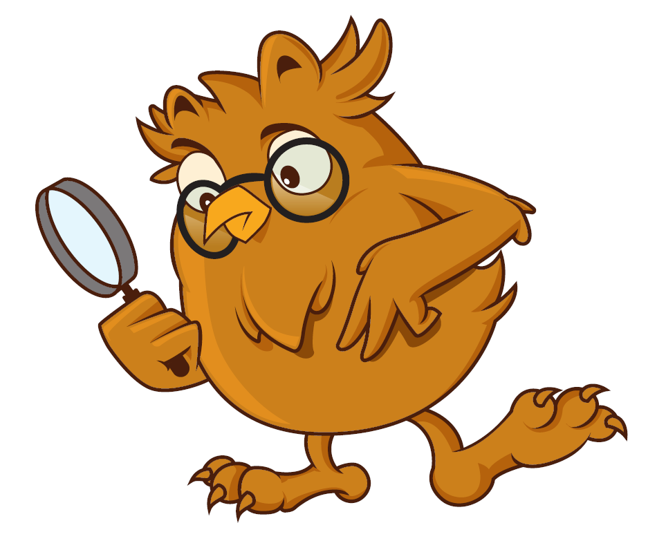 Owl with Detective Magnifying Glass
