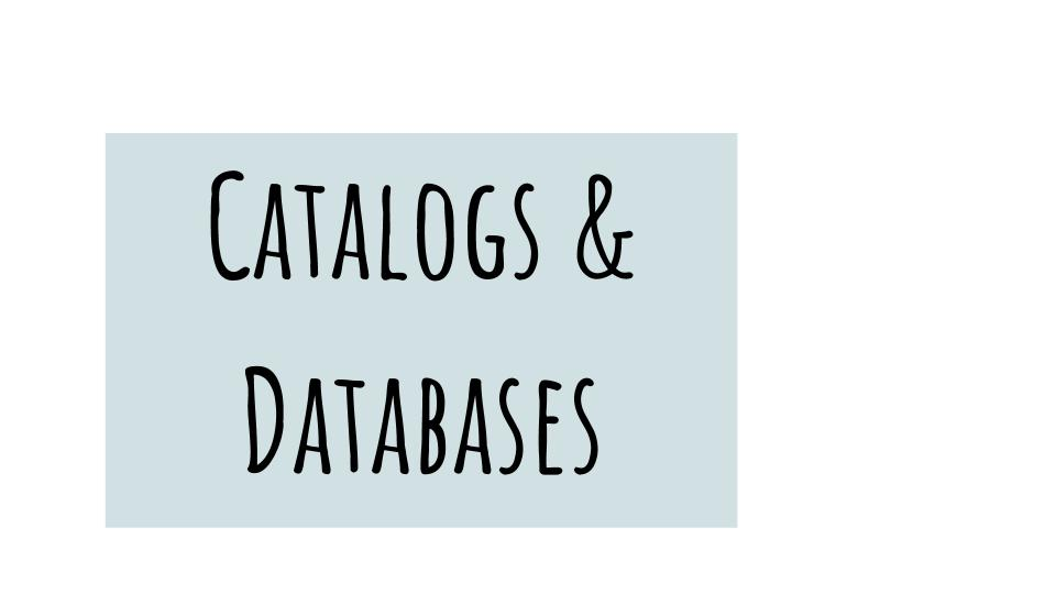 Go to our Catalogs and Databases.