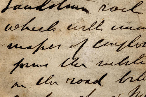 Handwriting from a nineteenth century letter