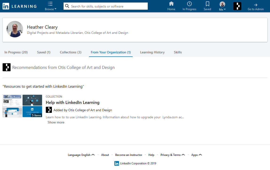 LinkedIn Learning for Otis College.