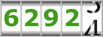 counter showing 6292 in green