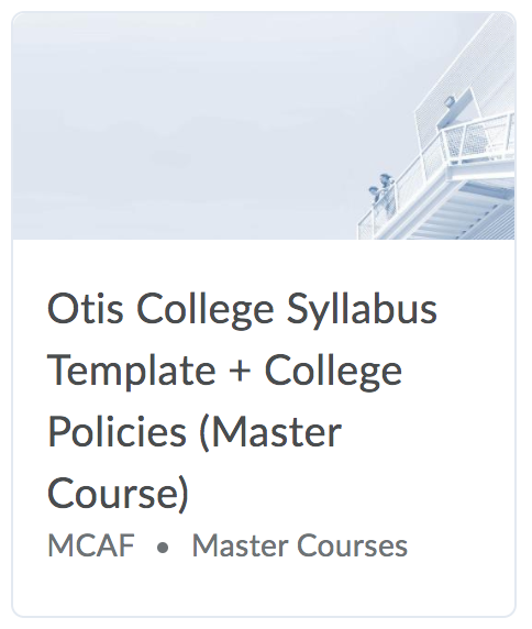 otis college master course template in the nest