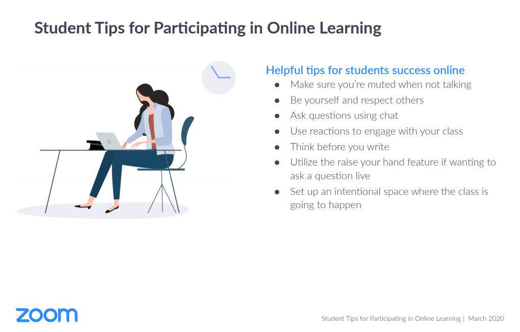 Student tips for participating online