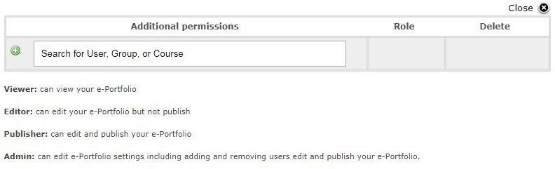 search box for permissions