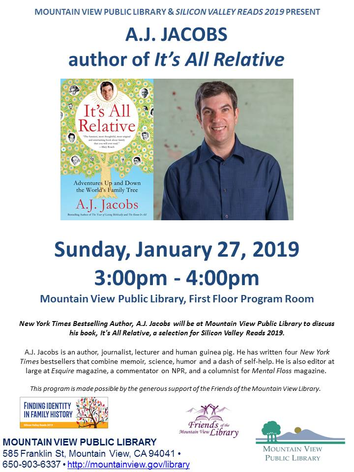 Silicon Valley Reads 2019 Author Visit: A.J. Jacobs