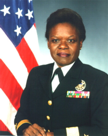 Lillian E. Fishburn, first African-American female to hold the rank of Rear Admiral in the US Navy