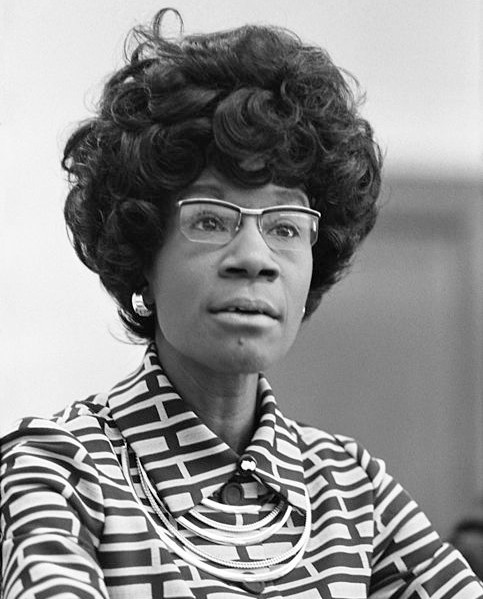 Shirley Chisholm, future member of the U.S. House