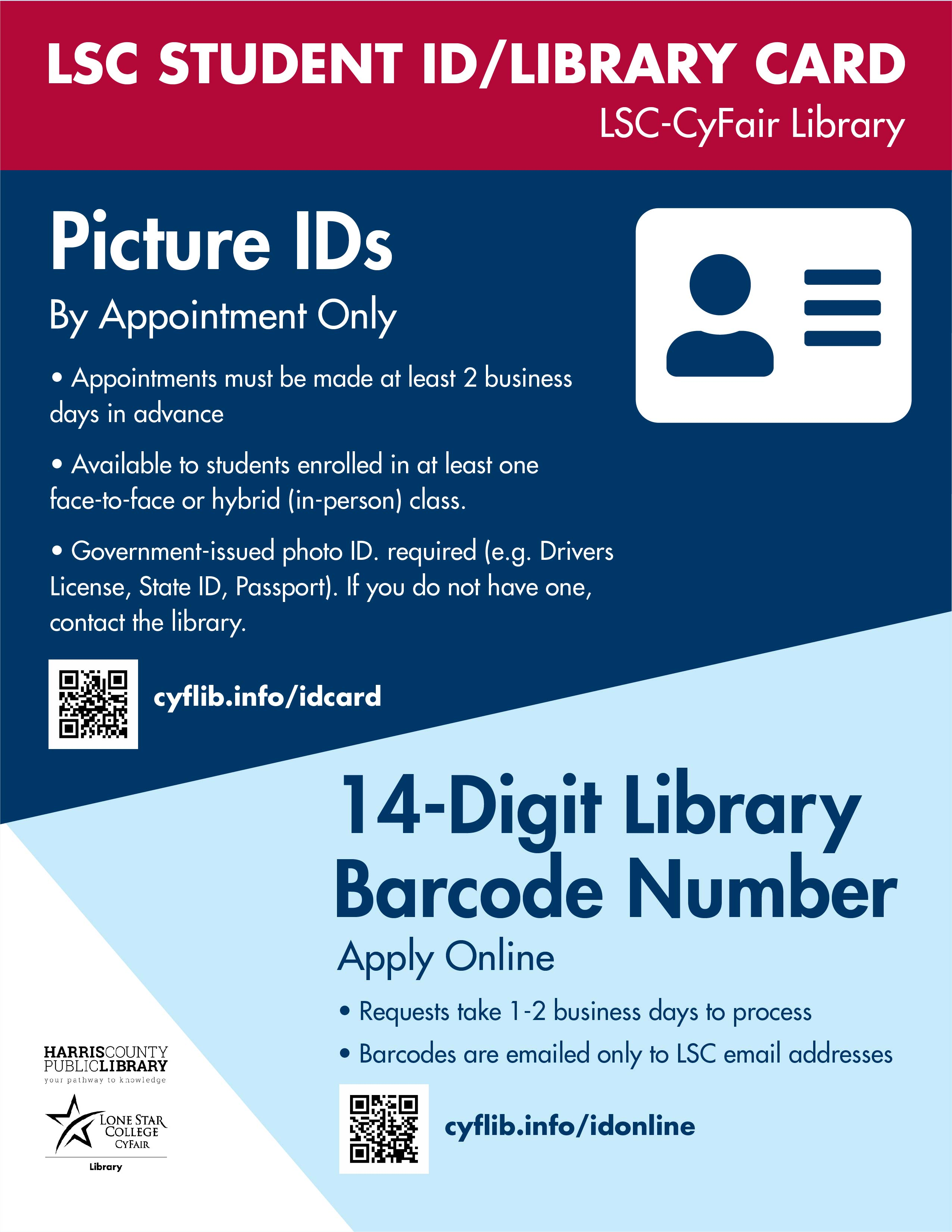 student id library card
