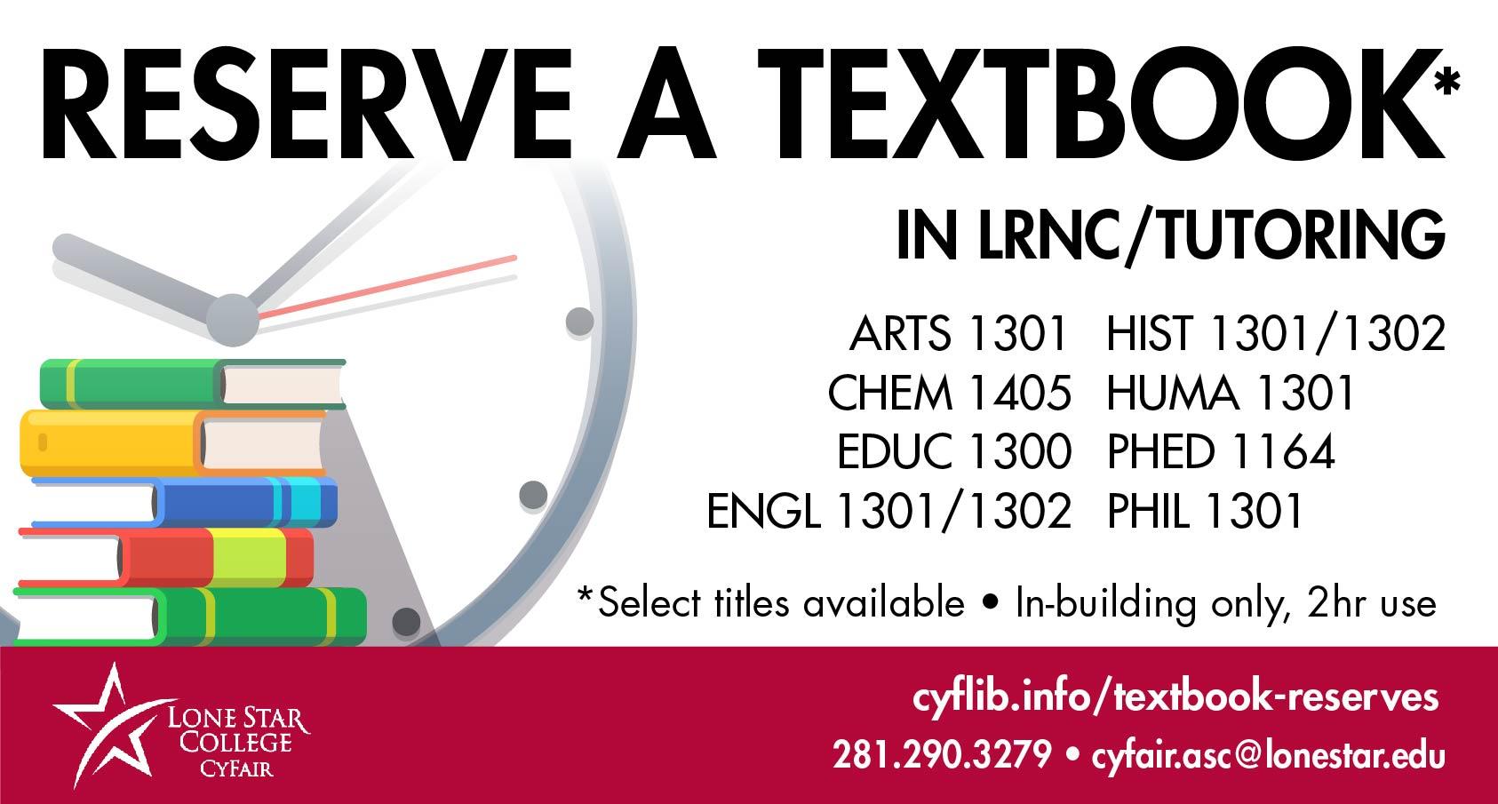 reserve a textbook
