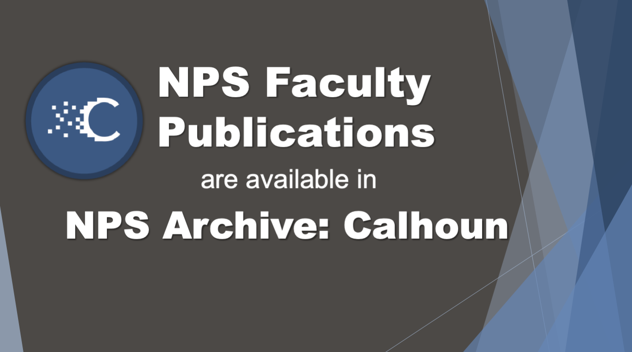 NPS Faculty Publications are in Calhoun