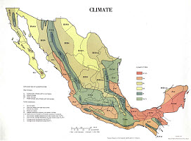 Map of Climate in Mexico