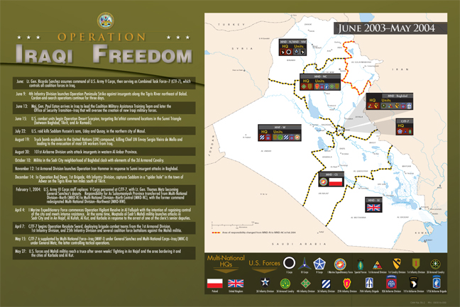 Map of Operation Iraqi Freedom