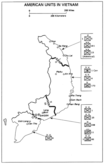 Map of Vietnam - American Units