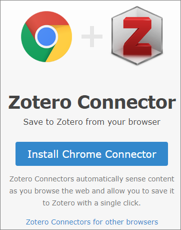 Image of Zotero Connector Install Button