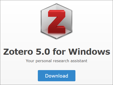 Image of Zotero Download Button