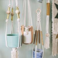 Handmade Happy Hour: Make a Classic Macrame Plant Holder