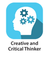 Creative thinker icon