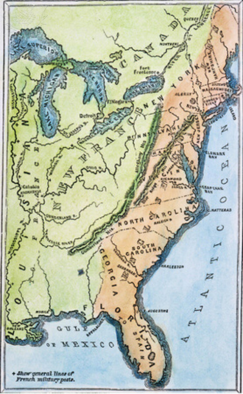 Map of US Colonies