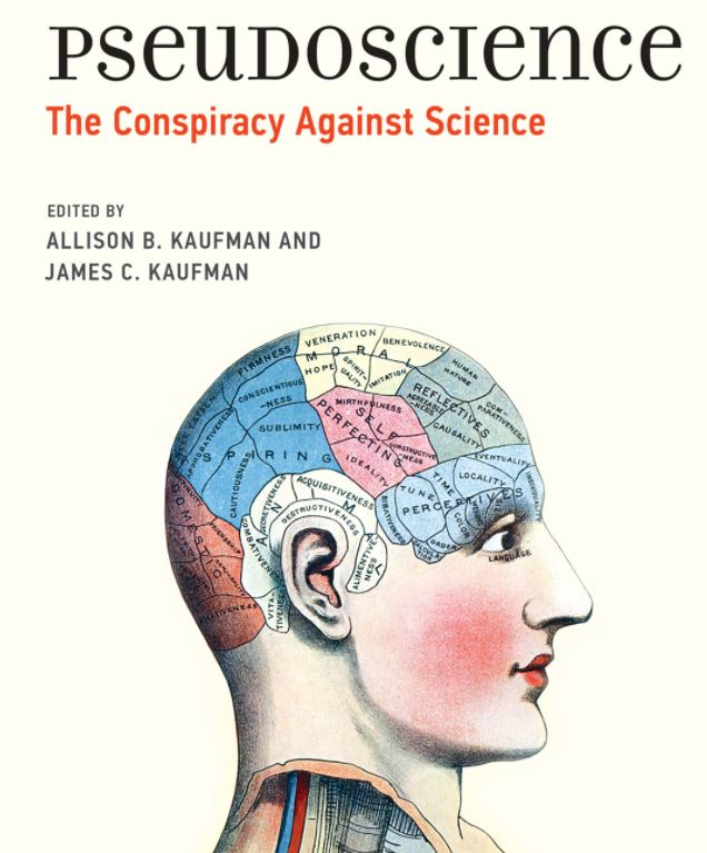 "Cover of book titled ""Pseudoscience: The Conspiracy Against Science,"" edited by Allison B. Kaufman and James C. Kaufman"