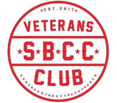 [Round logo] Est. 2017. SBCC Veterans Club.