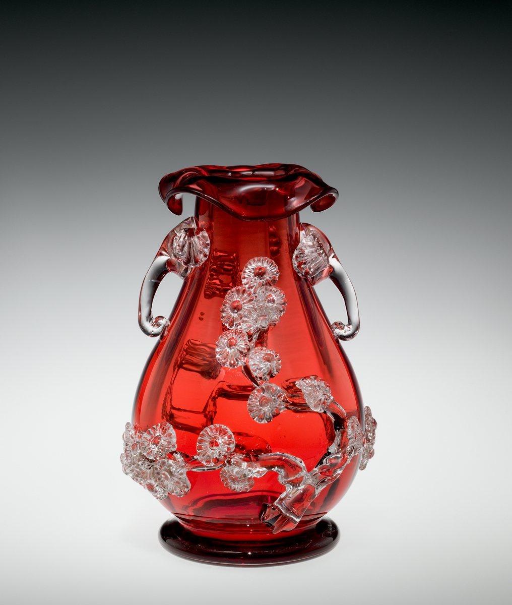 Carder Mat-su-no-ke Vase (Stevens & Williams)