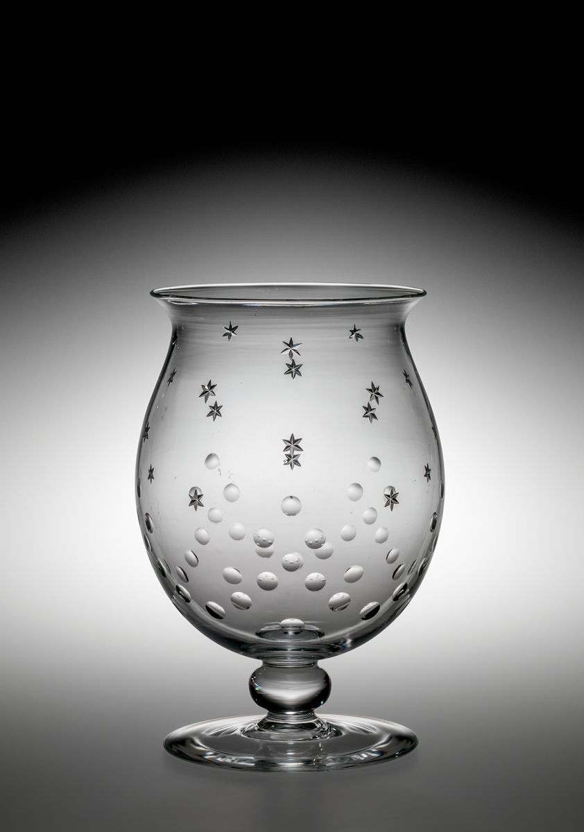 Carder Steuben Vase, colorless lead glass