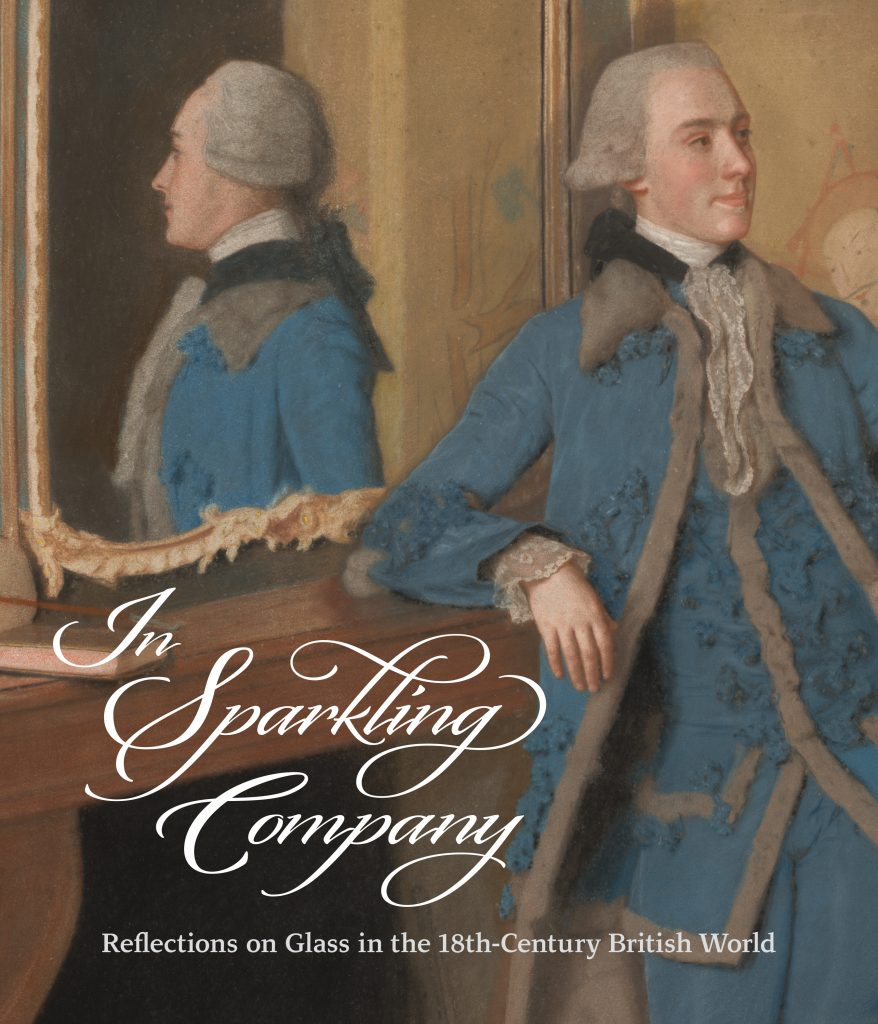 Book cover depicts detail of Jean-Etienne Liotard, John, Lord Mountstuart, later 4th Earl and 1st Marquess of Bute, 1763. Man is well dressed in blue embellished suit with lace cuffs and collar. He is turned away from mirror, but reflected in profile in mirror with gold frame.