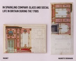 Design for the end wall of the drawing room at Northumberland House, London. Room was paneled in spangled red glass and mirrors.