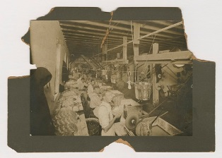 [Photograph of a cutting shop in Corning area], ca. 1900. Bib ID: 110649