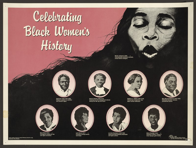 Celebrating Black Women's History, poster from National Women's History Project, 1988