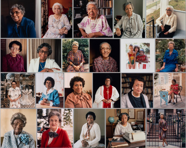 Grid of portraits from the Black Women Oral History Project Flickr album