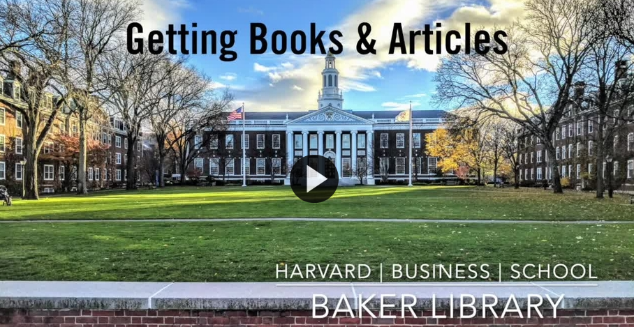 Link to Getting Books and Articles video