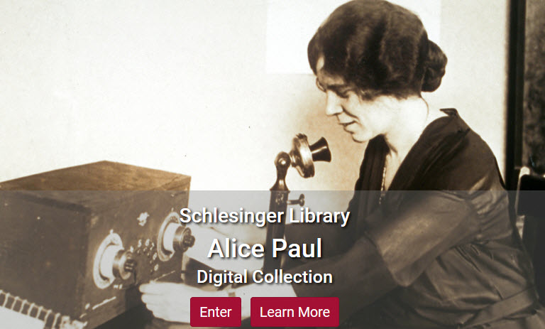 Screenshot of Alice Paul collection