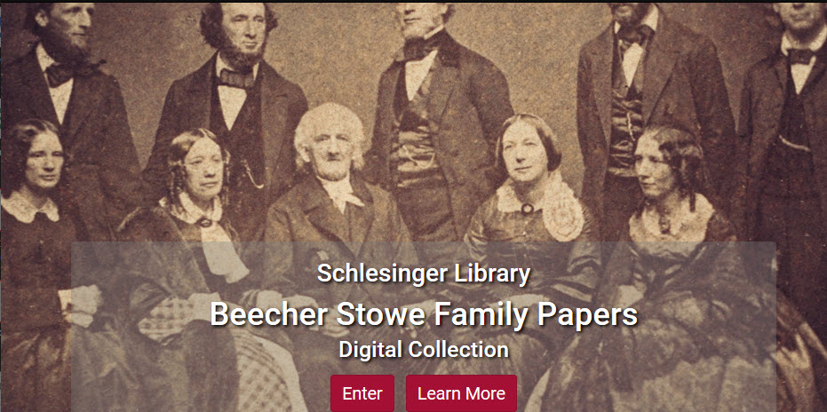 Screenshot of Beecher-Stowe family collection