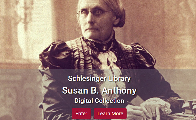 Screenshot of Susan B. Anthony collection
