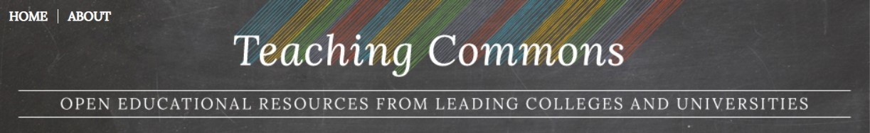 Teaching Commons -OER from leading colleges & unis