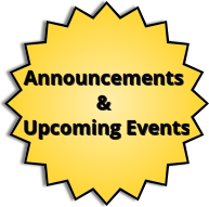 Library Announcements & Upcoming Events