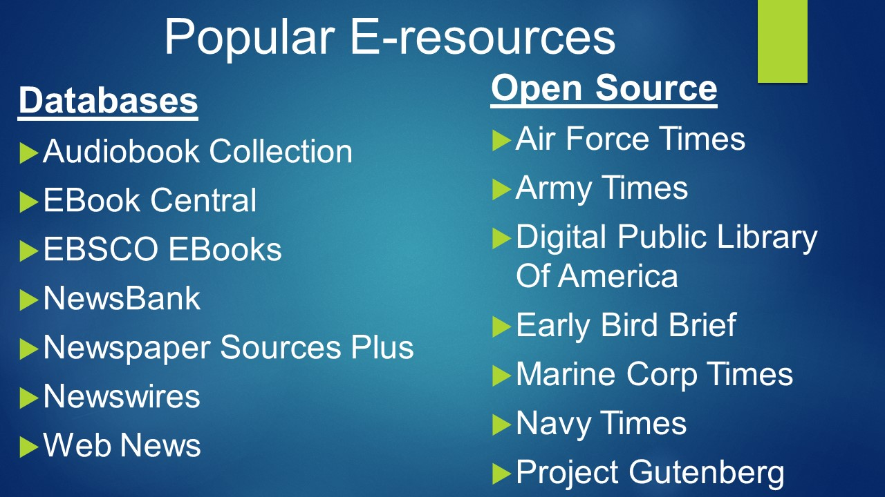 E-resources