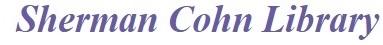 MUIH Sherman Cohn Library website