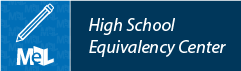 High School Equivalency Center from LearningExpress Library web button example